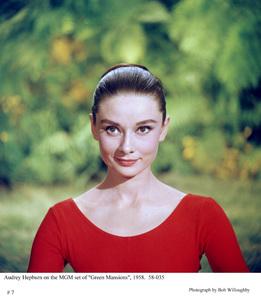 Audrey Hepburn on the set of MGM