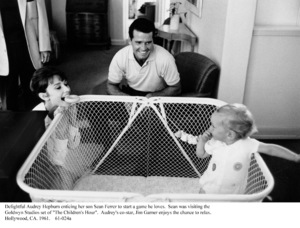 Audrey Hepburn, James Garner, and Sean Ferrer, 1961. © 1978 Bob Willoughby - Image 0033_4025