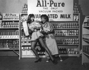 Harpo Marx in an ad for All-Pure Evaporated Milk1957 © 1978 Sid Avery - Image 0034_0023