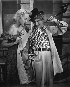 Harpo Marx in an ad for All-Pure Evaporated Milk 1957 © 1978 Sid Avery  - Image 0034_0115