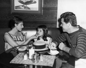 James Garner with his wife, Lois Clarke, and their daughter Kimberly in Malibu1957Photo by Jack Woods** J.S.C. - Image 0037_0779