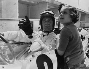"James Garner and his daughter, Gigi, during the making of ""Grand Prix""1966** J.C.C. - Image 0037_0845"