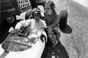 "James Garner and his daughter, Gigi, during the making of ""Grand Prix""1966** J.C.C. - Image 0037_0846"