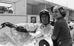 "James Garner and his daughter, Gigi, during the making of ""Grand Prix""1966** J.C.C. - Image 0037_0847"