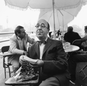 """Ed Wynn on a lunch break from filming """"The Diary of Anne Frank""""1959 © 1978 Sid Avery - Image 0039_0004"""