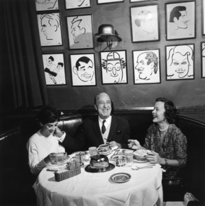 Ed Wynn and Millie Perkins at the Brown Derby restaurant1959 © 1978 Sid Avery - Image 0039_0009