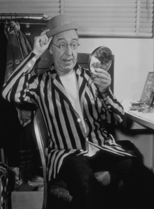 Ed Wynn backstage in his dressing room, 1959. © 1978 Sid Avery MPTV - Image 0039_0036