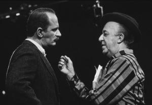 Ed Wynn with son Keenan Wynn rehearsing, 1955. Photo: Ernest Reshovsky © 1978 Marc Reshovsky - Image 0039_1005