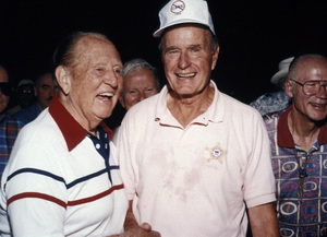 Art Linkletter with George Bush at Bohemian GroveJuly 1995 - Image 0046_1195
