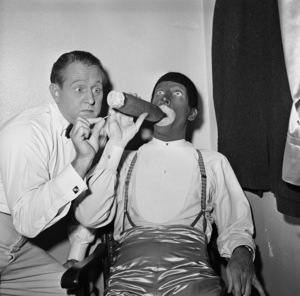 Art Linkletter with dancer Dan Dailey circa 1950s Photo by Gerald Smith - Image 0046_1244