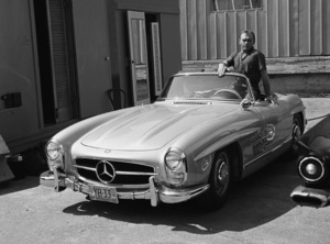 Yul Brynner in his 300SL Mercedes 1958© 1978 Sid Avery - Image 0056_0015