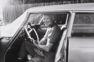 Dwight D. Eisenhower in his 1958 Plymouth station wagon in Palm Springs, CA, 1961. © 1978 Sid Avery MPTV - Image 0060_0007