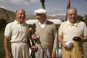 Dwight D. Eisenhower playing golf at La Quinta with Freeman Gosden and Charles Correll1961 © 1978 Sid Avery - Image 0060_0217