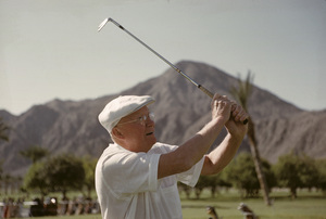 Dwight D. Eisenhower playing golf at La Quinta1961 © 1978 Sid Avery - Image 0060_0234