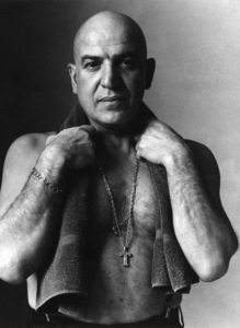 Telly Savalas for a Gillette razor advertisement1975 © 1978 Sid Avery - Image 0061_0618