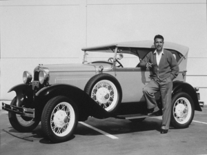 Tennessee Ernie Ford with his 1930 Ford Model A Deluxe Phaetoncirca 1956Photo by Gerald Smith - Image 0064_0093