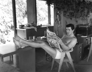 Rock Hudson at home in North Hollywood, California1952 © 1978 Sid Avery - Image 0067_0014