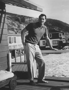Rock Hudson at his Malibu beach homec.1960Photo by Joe Shere - Image 0067_1051