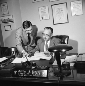 Jack Webb and Chief of the Los Angeles Police Department, William H. Parker1953© 1978 Sid Avery - Image 0068_1018