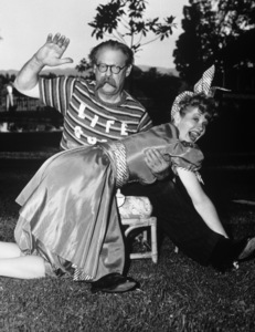 Lucille Ball and Lionel Barrymore at Lucy