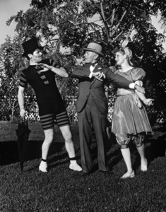 Lucille Ball, Charles Ruggles and Francis Lederer at Lucy