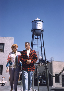 Lucille Ball with Desi Arnazat the Desilu backlot, c. 1957.**I.V. - Image 0069_2107