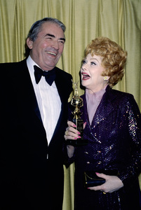 """Gregory Peck and Lucille Ball at """"The 36th Annual Golden Globe Awards""""January 27, 1979© 1979 Gary Lewis - Image 0069_2195"""
