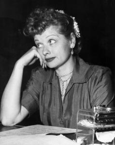 "Lucille Ball on the CBS radio show ""My Favorite Husband""circa 1950Photo by Gabi Rona - Image 0069_2221"