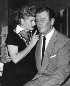 """I Love Lucy"" (Episode: Lucy and John Wayne)Lucille Ball, John Wayne1955** I.V. - Image 0069_2237"