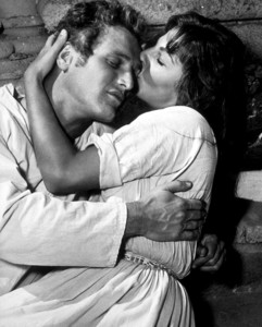"""Paul Newman and Lita Milan in""""The Left Handed Gun,"""" 1958.Photo by Floyd McCarty - Image 0070_0184"""