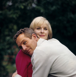 Paul Newman and Joanne Woodward at home in Hollywood CA1965© 1978 David Sutton - Image 0070_2089