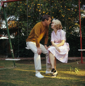Paul Newman and Joanne Woodward at home in Hollywood, CA1965© 1978 David Sutton - Image 0070_2093