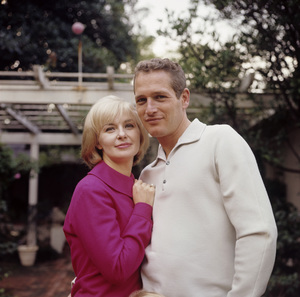 Paul Newman and Joanne Woodward at home in Hollywood CA1965© 1978 David Sutton - Image 0070_2098