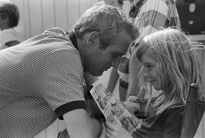 """Paul Newman on the set of """"Winning"""" with daughter Nell1968© 1978 David Sutton - Image 0070_2141"""