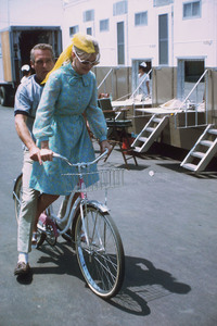 """Paul Newman and Joanne Woodwardon location during the filming of""""Winning,"""" 1968. © 1978 David Sutton - Image 0070_2227"""