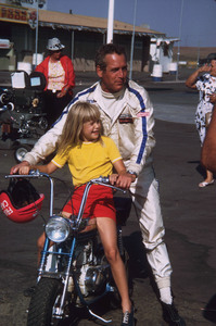 """Paul Newman with daughter Elinor on the set of """"Winning""""1968© 1978 David Sutton - Image 0070_2250"""