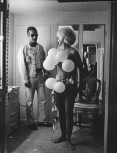 "Paul Newman & Joanne Woodward in her dressing room during filming of ""The Stripper,"" 1963. © 1978 David Sutton  - Image 0070_2278"