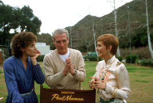 """Paul Newman directing Valerie Harper and Joanne Woodward in """"The Shadow Box,"""" 1980. © 1980 Gunther - Image 0070_2300"""