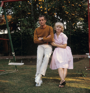 Paul Newman and Joanne Woodward at home in Hollywood CA1965© 1978 David Sutton - Image 0070_2313