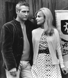 """Paul Newman with wife Joanne Woodward off the set of """"Winning""""1968 © 1978 David Sutton - Image 0070_2324"""