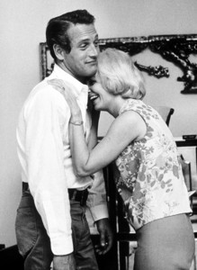 Paul Newman with wife Joanne Woodwardat home, 1962. © 1978 David Sutton - Image 0070_2326