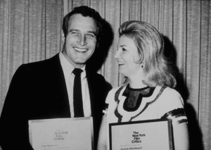 """Paul Newman and wife Joanne Woodwardreceive N.Y. Film Critics Awards for""""Rachel, Rachel"""" actress and director,1969. - Image 0070_2328"""