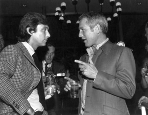 Paul Newman conversing withParamount Head of Production Robert Evansc. 1975 - Image 0070_2343