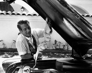 Paul Newman working on a Chevrolet Bel Air1956 © 1978 Sanford Roth / AMPAS - Image 0070_2377