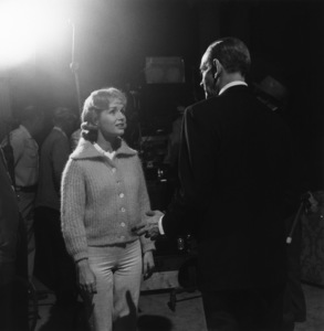 """Debbie Reynolds with Fred Astaire on the set of """"The Pleasure of His Company""""1960 © 1978 Sid Avery - Image 0071_0079"""