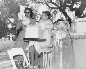 Debbie Reynoldsat her baby shower before the birth of her daughter Carrie Fisher 1956Photo by Joe Shere  - Image 0071_1099