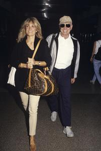 Johnny Carson and wife Alexandra (Alexis) Maascirca 1987© 1980 Gary Lewis - Image 0072_0769