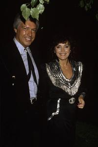Joanna Carson and Bob Parkinsoncirca 1985© 1980 Gary Lewis - Image 0072_0778