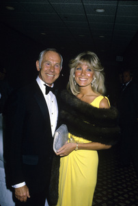 Johnny Carson and wife Alexandra (Alexis) Maascirca 1987© 1980 Gary Lewis - Image 0072_0779