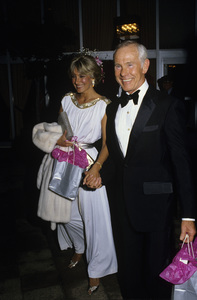 Johnny Carson and Alexandra (Alexis) Maascirca 1987© 1980 Gary Lewis - Image 0072_0781
